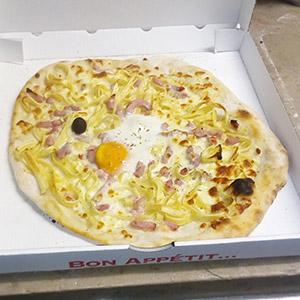Pizza Carbonara - Pizzeria Villefranche
